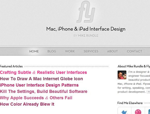 Flyosity website iPhone iPad design UI