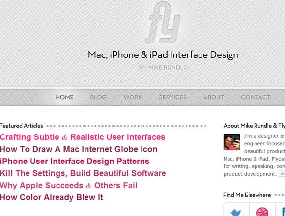 Flyosity website iPhone iPad design UI