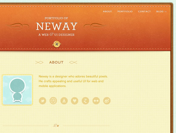 Neway Lau website portfoloio design