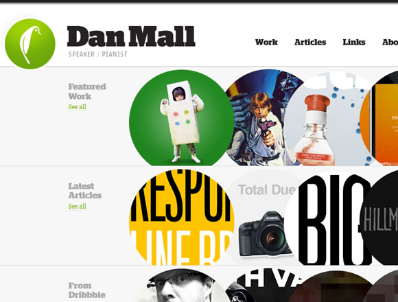 Daniel Mall interaction designer website portfolio