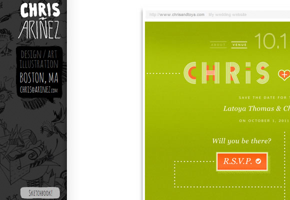 Christopher Ariñez website design portfolio