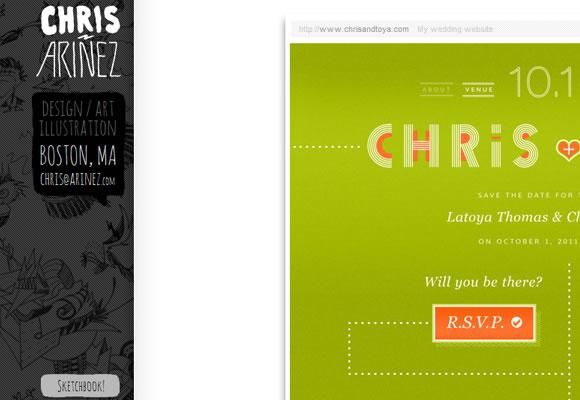 Christopher Ariñez website design portfolio