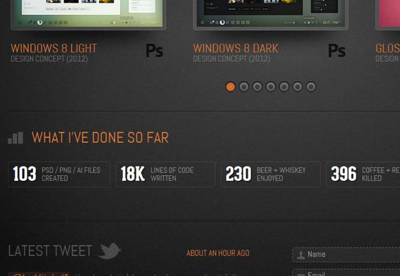 Danny Knaack icons portfolio website design