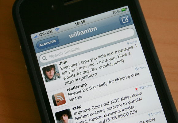 Mobile Twitter iOS iPhone App design