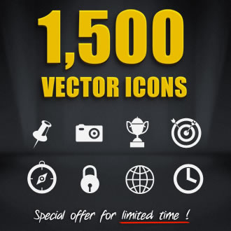 DealPixel: 1,500 Amazing Vector Icons