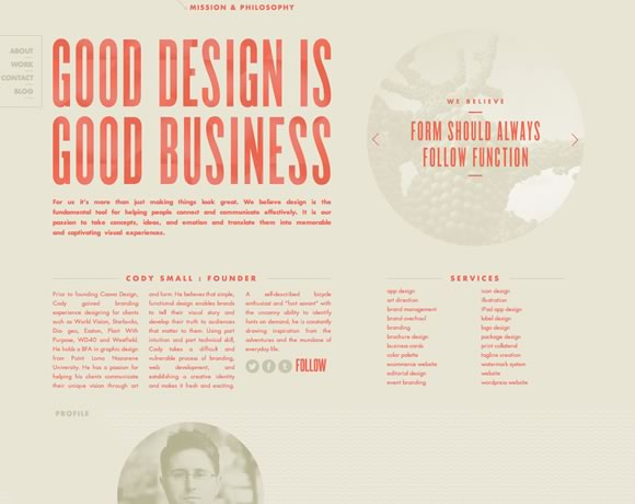 21 Web Designs that take Advantage of Typography Power