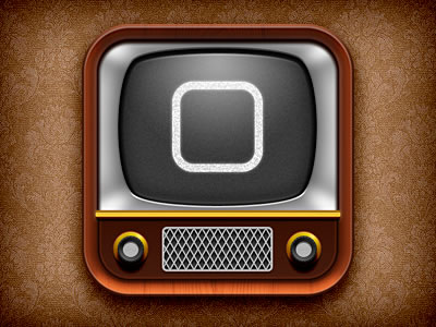iOS television iPad iPhone icon design