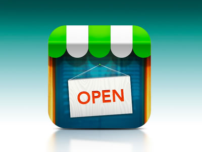 shop store open app icon ios design