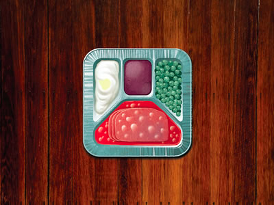 1960s dinner television app icon