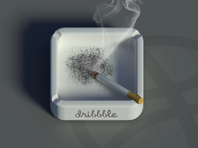 smoking cigarette iPhone app icon ashtray
