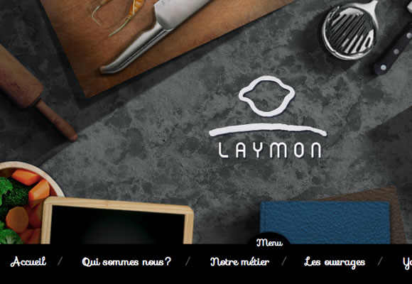 laymon cooking website parallax scrolling design interface