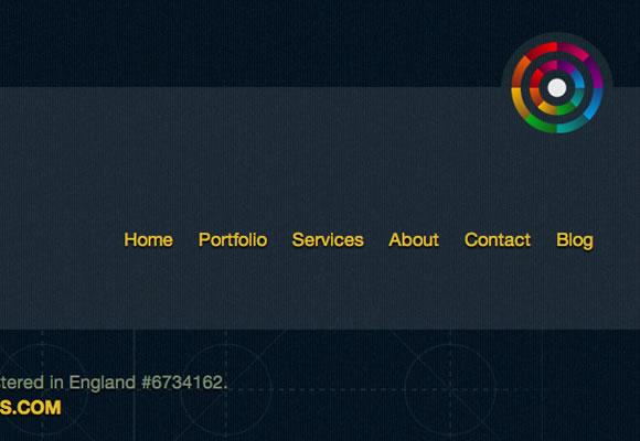 neutron creations website layout design interface footer