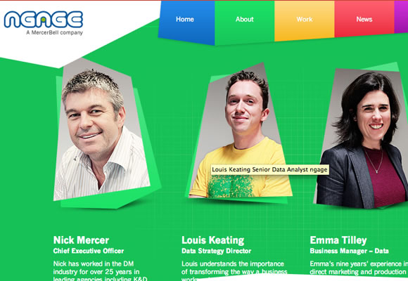 fixed ngage scrolling website layout design