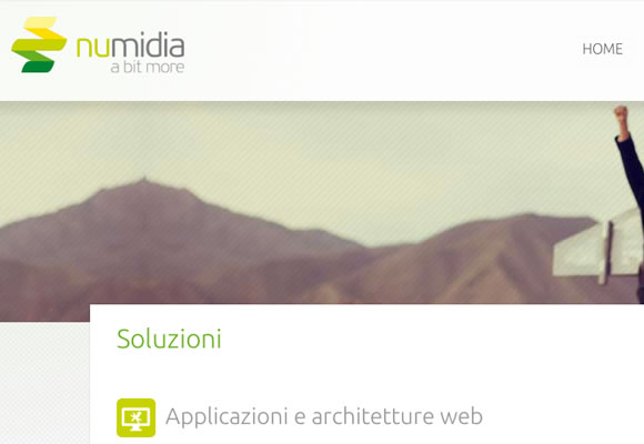Numidia homepage single responsive webpage layout