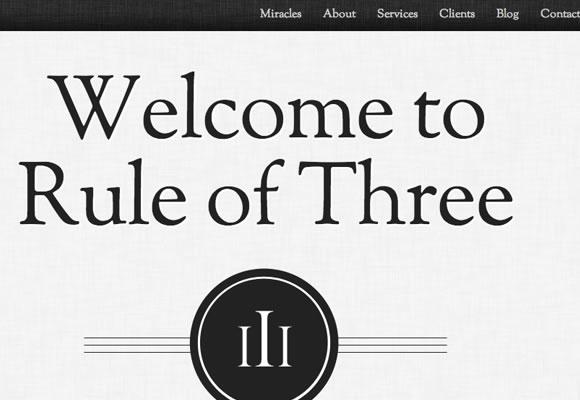 rule of three website united kingdom singlepage layout