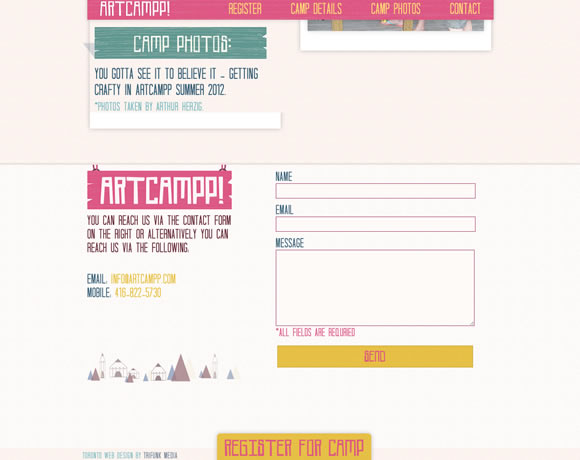 21 Inspiring examples of Contact Pages and Forms