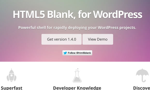 wordpress homepage layout html5 blank theme template