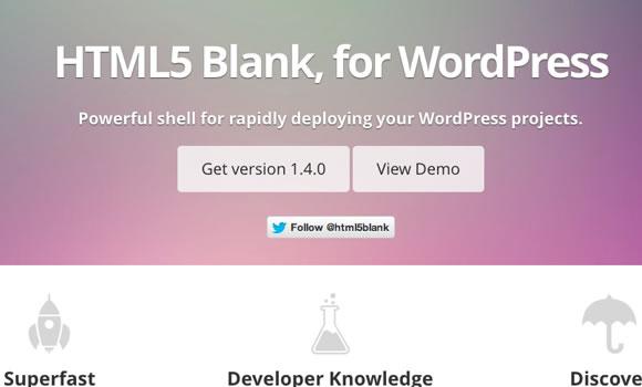 wordpress homepage layout html5 blank theme template