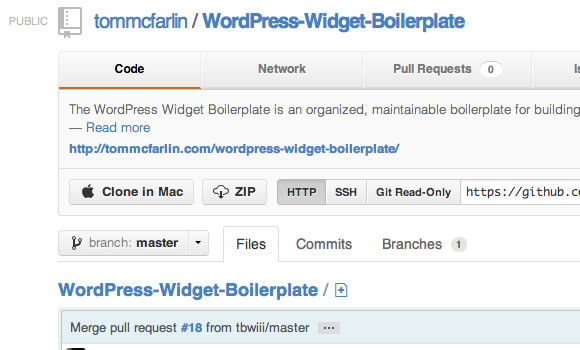 open source github repo wordpress plugin widgets template