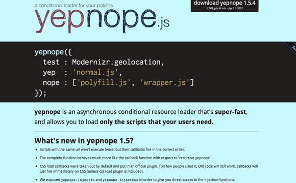 Modernizr & YepNope Tips