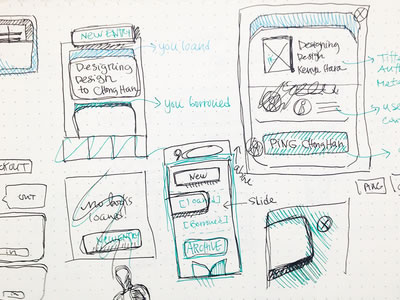 Beautiful Wireframe Sketches for your Inspiration