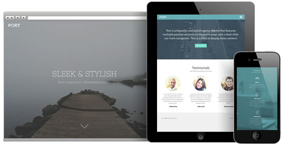 Port, a Beautiful Agency WordPress Theme