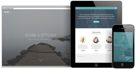 Port, a Beautiful Agency WordPress Theme