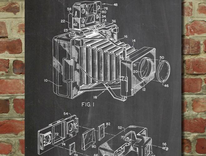 photographic camera accessory patent artwork