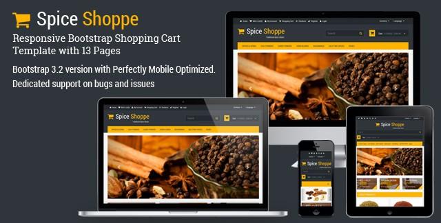 Spice Shoppe - Bootstrap Shopping Cart