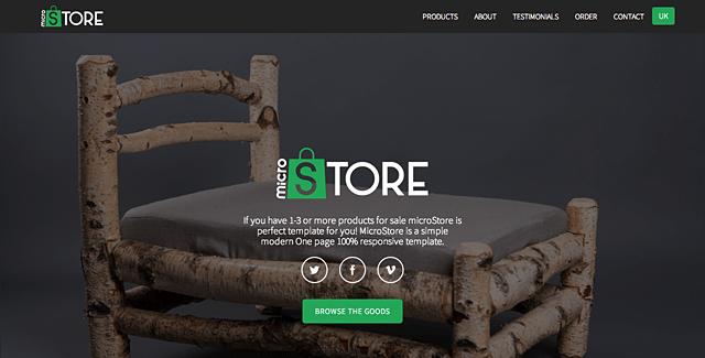 microStore - OnePage ecommerce Theme