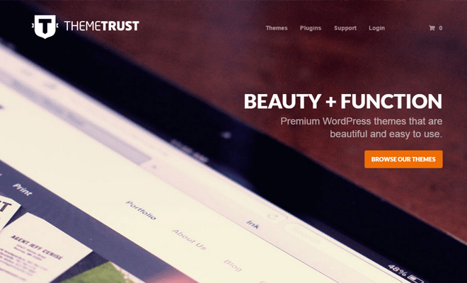themetrust website themes layout homepage