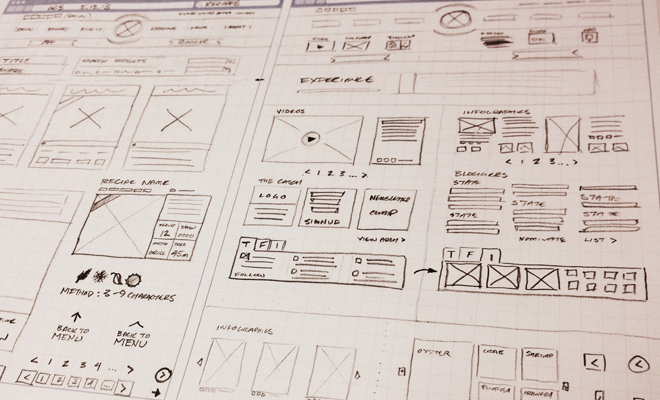 sketchbook wireframe concepts ui website layout