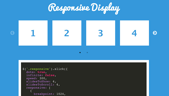 slick jquery open source slider plugin