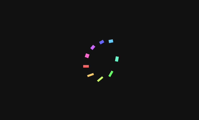 illusion circle loader animation effect