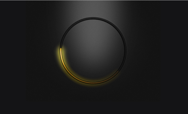 glowing light circle rotation effect