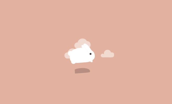 jumping vector css3 rabbit effect animated