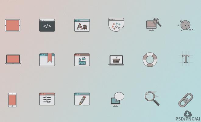 web design iconset