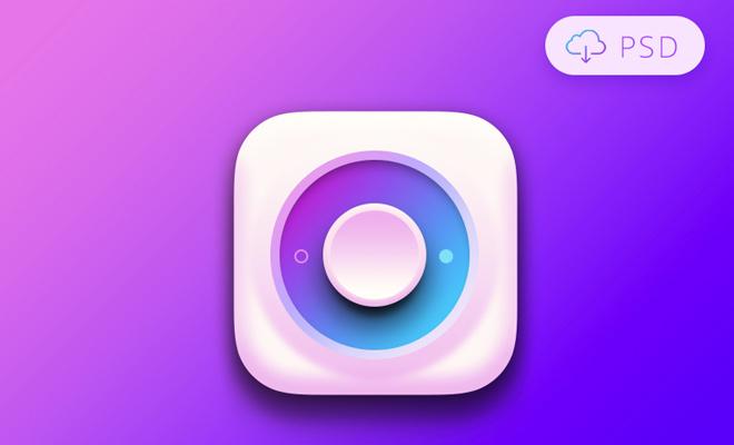 colorful purple switch psd freebie