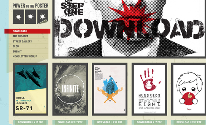 power to the poster retail website navigation
