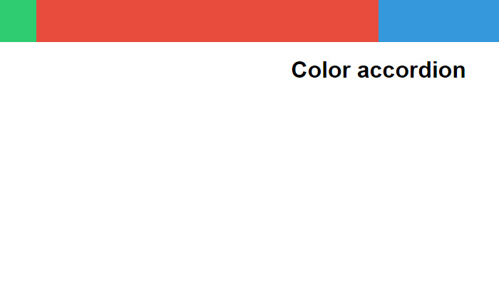 large colored bars responsive accordion