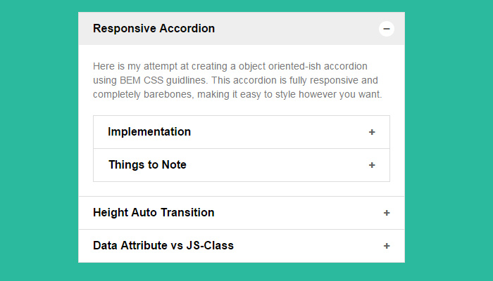 green simple minimalist accordion design ui
