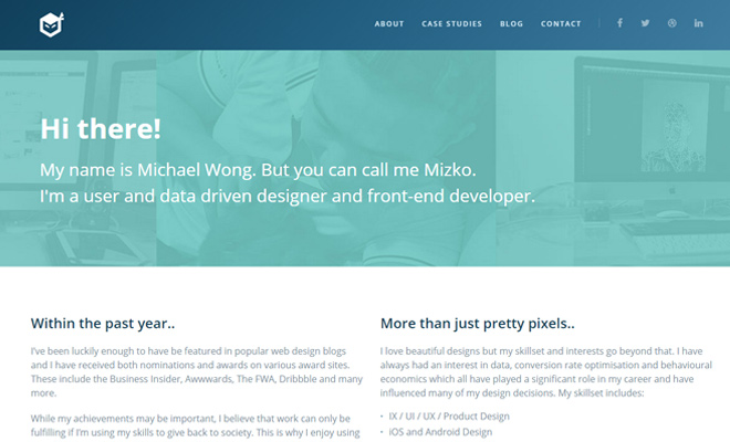 mizko michael wong portfolio