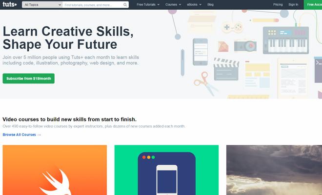 tutsplus 2015 homepage design
