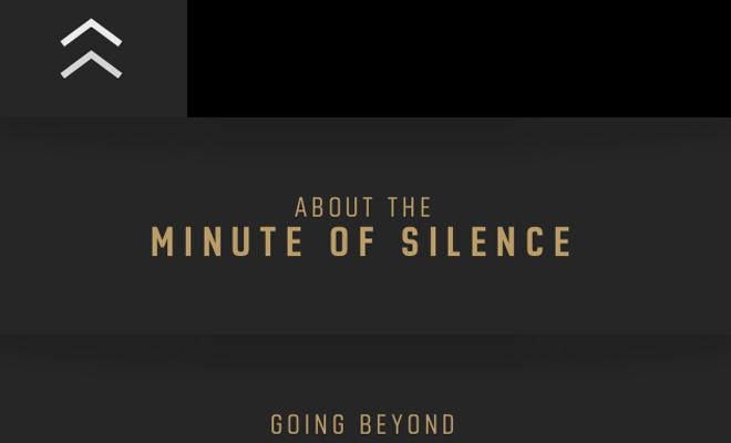 minute of silence mobile menu ui