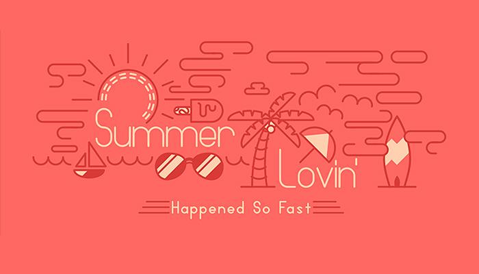 summer theme vector sketch tutorial