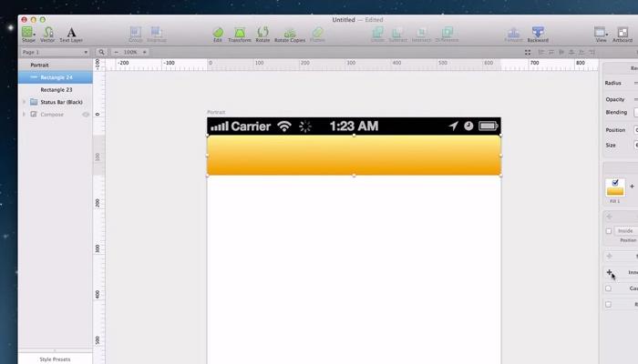 ios app design sketch vector ui