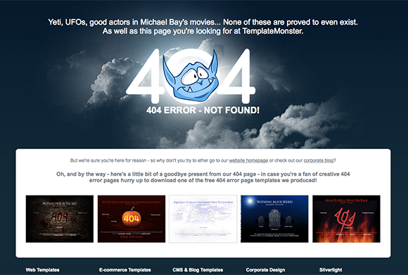 20 Creative Examples of 404 Website Pages