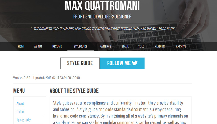 max quattromani frontend styles
