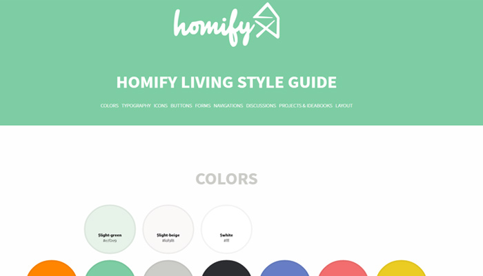 homify living style guide website