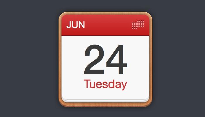 simple calendar icon sketch design
